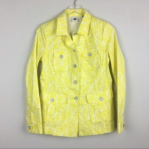 CAbi | Yellow Field Floral Jacket | Size Small